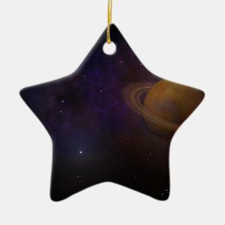Espacio profundo adorno de cerámica en forma de estrella