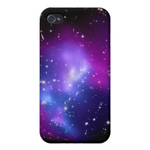 Espacio púrpura del racimo J0717 de la galaxia iPhone 4/4S Funda