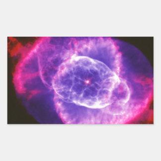 Espacio púrpura eléctrico de Ngc 6543 de la Pegatina Rectangular
