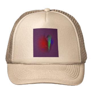 Espacio púrpura oscuro gorras