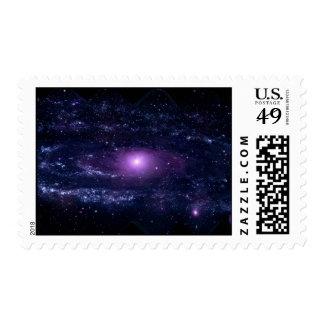Espacio púrpura ultravioleta de la galaxia del envio