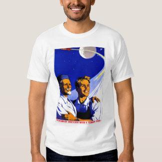 Espacio retro del soviet de Sci Fi URSS del kitsch Camisas