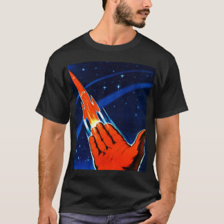 Espacio retro del soviet de Sci Fi URSS del kitsch Playera