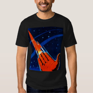 Espacio retro del soviet de Sci Fi URSS del kitsch Remera