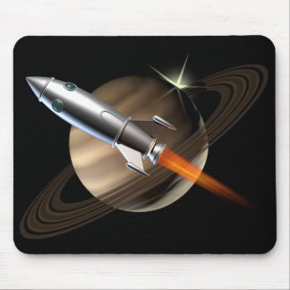 Espacio Rocket de Saturn Alfombrillas De Ratón