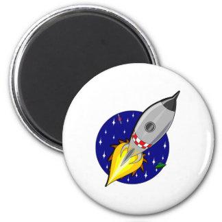 Espacio Rocket del dibujo animado Imán