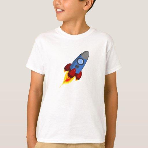 Espacio Rocket del dibujo animado Playera