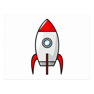 Espacio Rocket del dibujo animado Postal