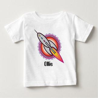 Espacio Rocket personalizado al infinito y más Playera De Bebé