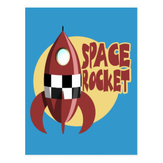 Espacio Rocket Tarjeta Postal