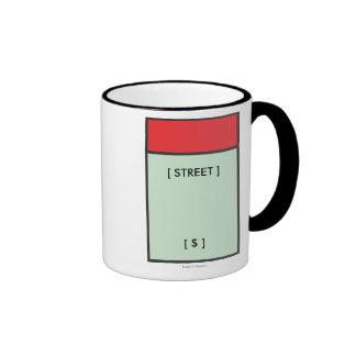 Espacio rojo taza de dos colores