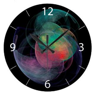 Espacio Shell del arte abstracto Reloj Redondo Grande