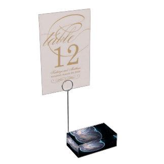 Espacio temático soporte de tarjeta de mesa