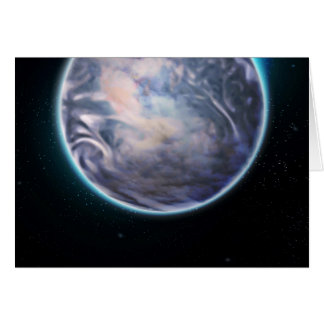 Espacio temático tarjeta de felicitación