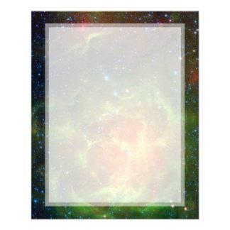 Espacio trífido Spitzer de la nebulosa Tarjetas Publicitarias