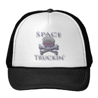 Espacio Truckin azul Gorro De Camionero