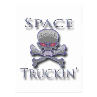Espacio Truckin azul Tarjeta Postal