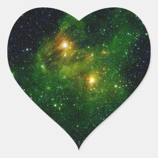 Espacio verde del racimo de la estrella GL 490 Pegatinas