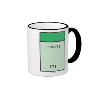 Espacio verde taza de dos colores