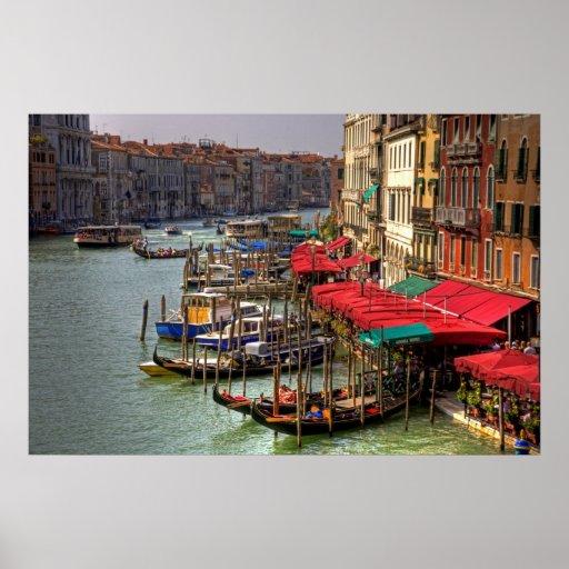 Espacios de estacionamiento (estilo de Venecia) Póster