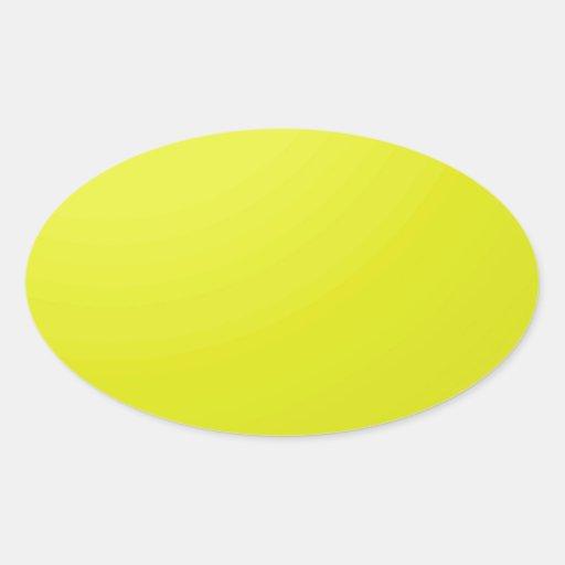 Espacios en blanco de oro amarillos de la sombra d calcomanías ovaladas personalizadas