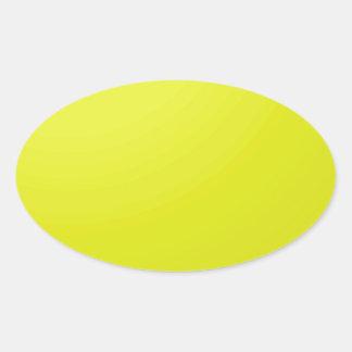Espacios en blanco de oro amarillos de la sombra calcomanías ovaladas