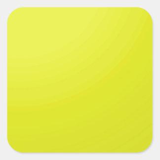 Espacios en blanco de oro amarillos de la sombra pegatina cuadrada