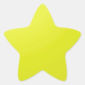 Espacios en blanco de oro amarillos de la sombra pegatina en forma de estrella
