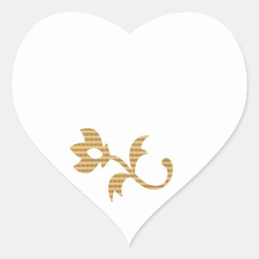 Espacios en blanco del CORAZÓN con el ornamento Pegatina De Corazón