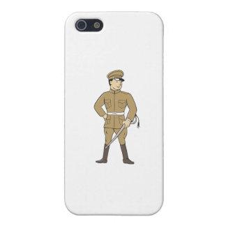 Espada británica del oficial de la Primera Guerra iPhone 5 Fundas