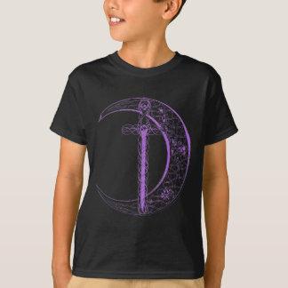 Espada céltica y luna céltica (púrpuras) remeras