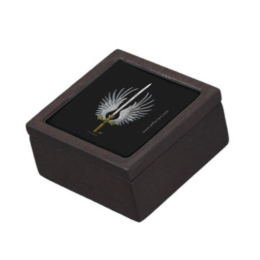 Espada coa alas cajas de recuerdo de calidad