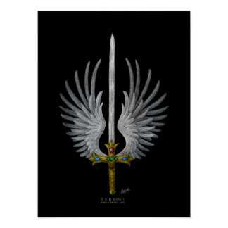 Espada coa alas impresiones