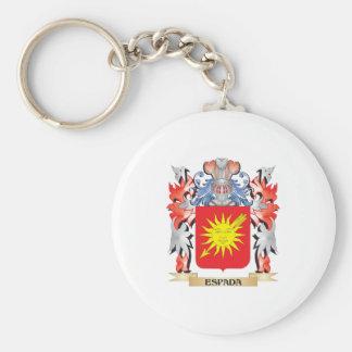 Espada Coat of Arms - Family Crest Keychain