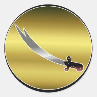 Espada de Ali Pegatina Redonda