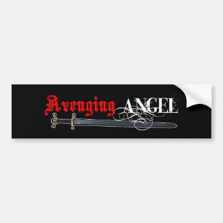 Espada de ángeles etiqueta de parachoque