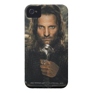 Espada de Aragorn abajo iPhone 4 Case-Mate Cárcasa