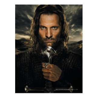 Espada de Aragorn abajo Postal