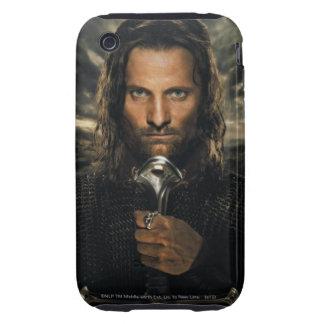 Espada de Aragorn abajo Tough iPhone 3 Protectores