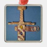Espada de la coronación de los reyes de Francia Adorno Navideño Cuadrado De Metal