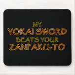 Espada de Yokai contra Zanpak-a Mousepad Tapetes De Raton