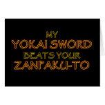 Espada de Yokai contra Zanpak-a tarjetas de felici