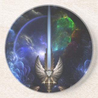 Espada del ala del ángel del Coa de la piedra aren Posavasos Manualidades