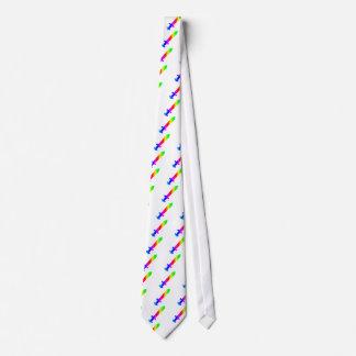 Espada del arco iris corbatas personalizadas