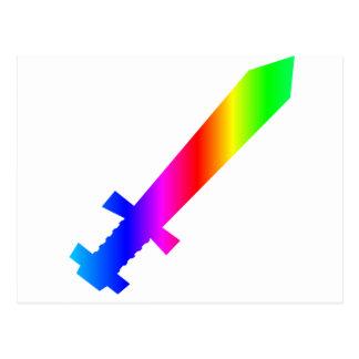Espada del arco iris postales