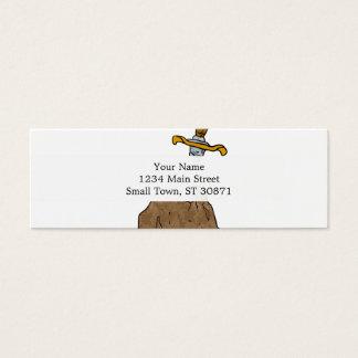 espada del dibujo animado en piedra tarjetas de visita mini