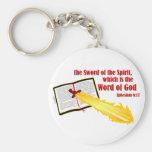espada del regalo del cristiano del alcohol llaveros personalizados