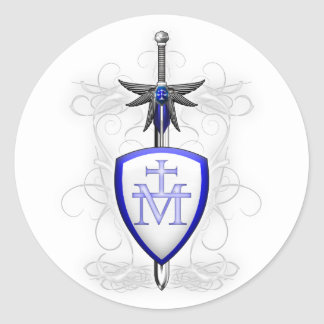 Espada del St. Michaels Pegatina Redonda