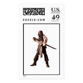 Espada derecha del dibujo del gorrión del enchufe timbres postales