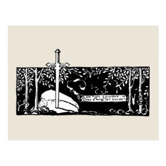 Espada en la piedra tarjetas postales
